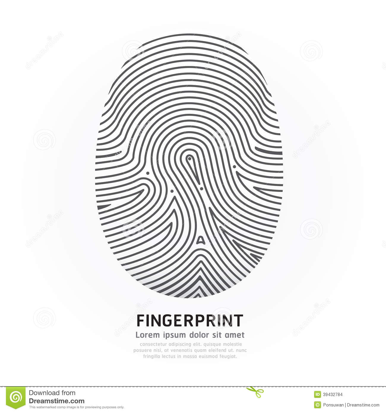 Fingerprint Color Vector Design Illustration Stock Vector