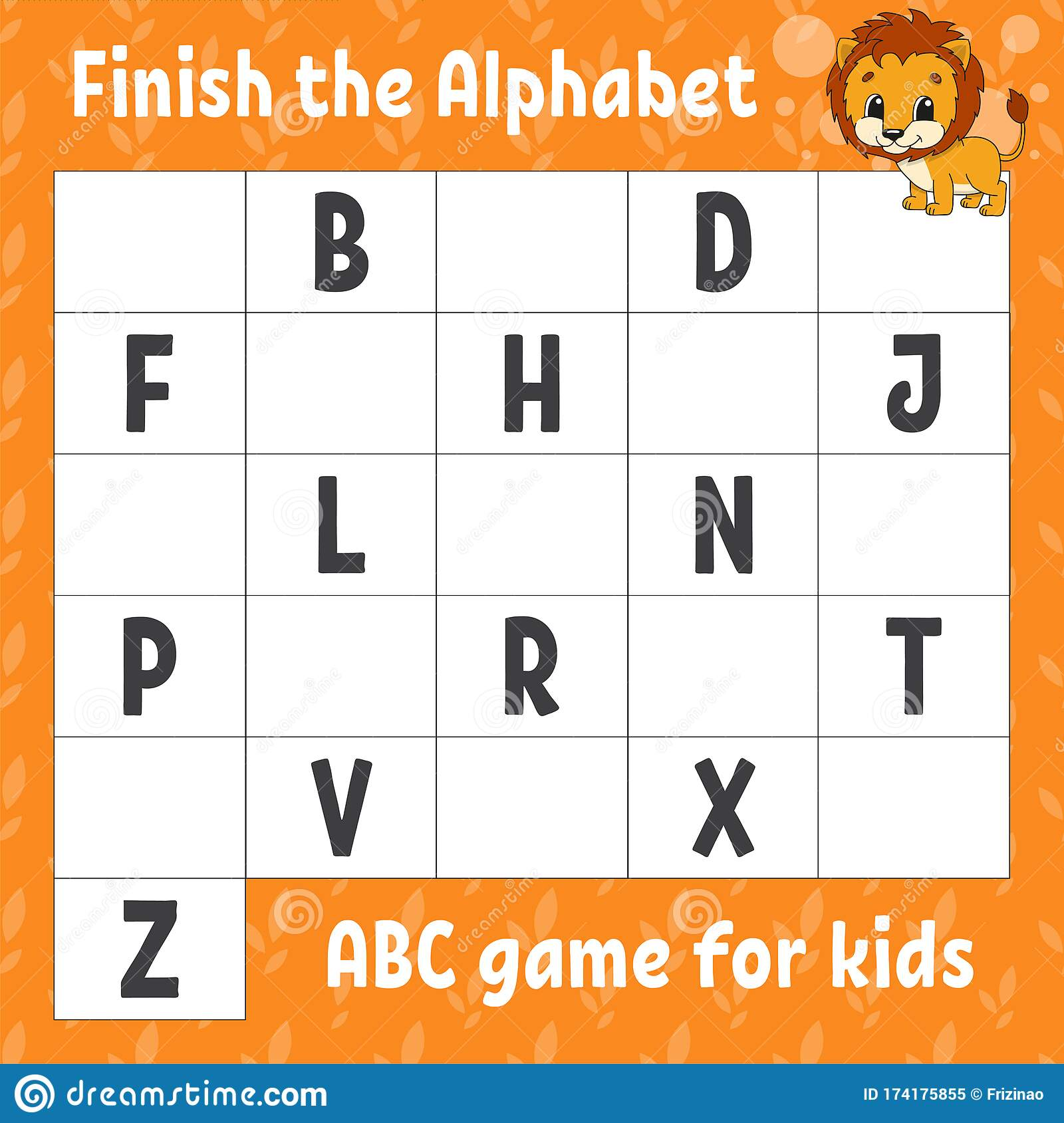 Finish The Alphabet Abc Game For Kids Education