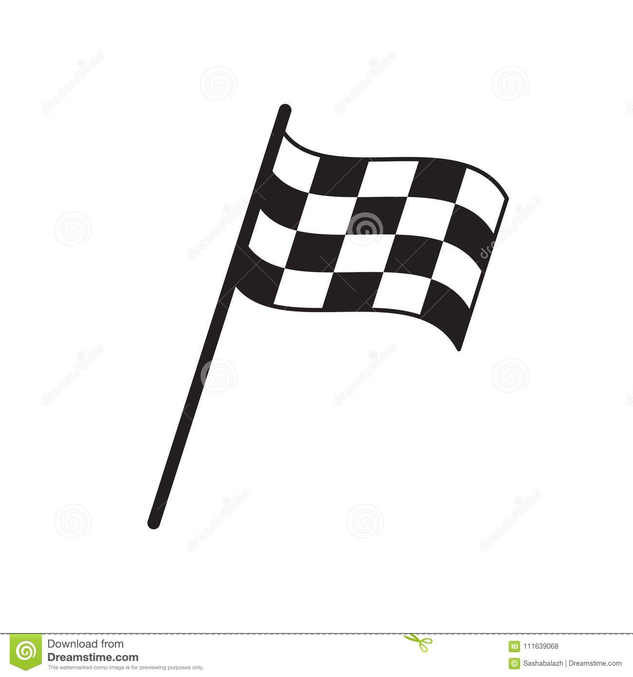 Finish Flag Vector Illustration Isolated On White Flat