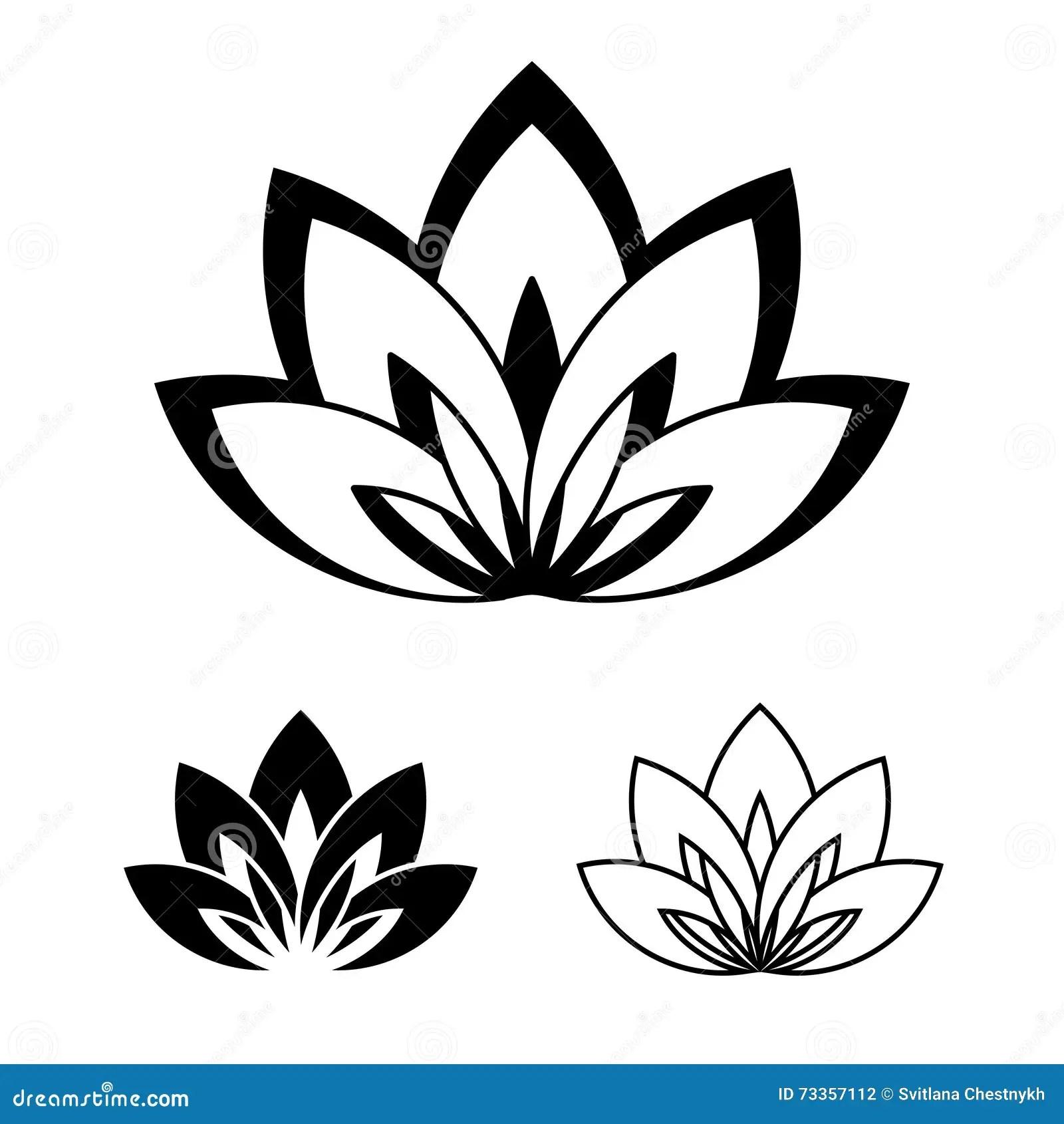 Fiore Di Lotus Come Simbolo Di Yoga Illustrazione