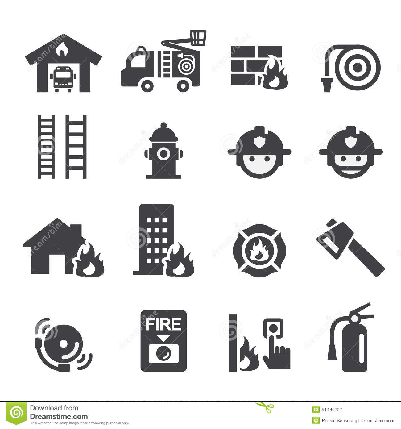 Fire Department Icon Stock Vector