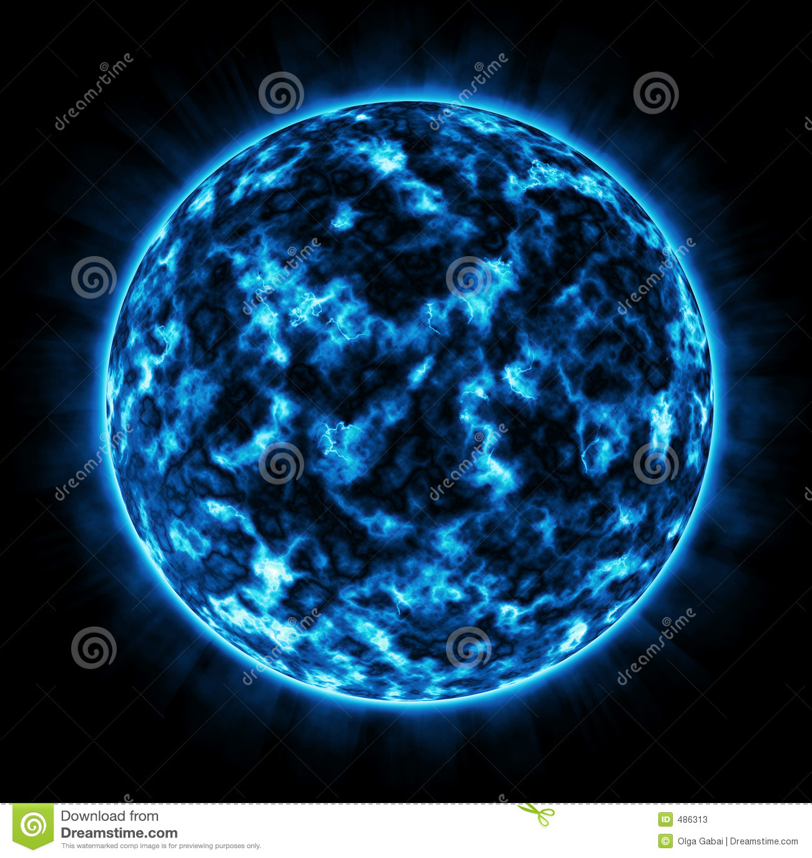 Fire Planet Blue Stock Photos Image 486313