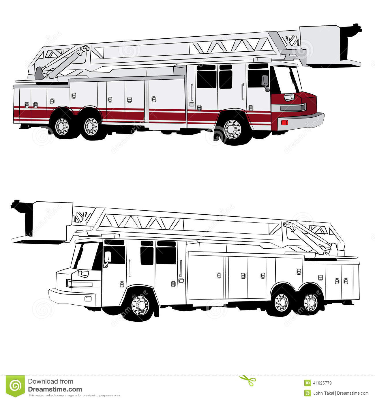 Fire Truck Vehicle Stock Vector