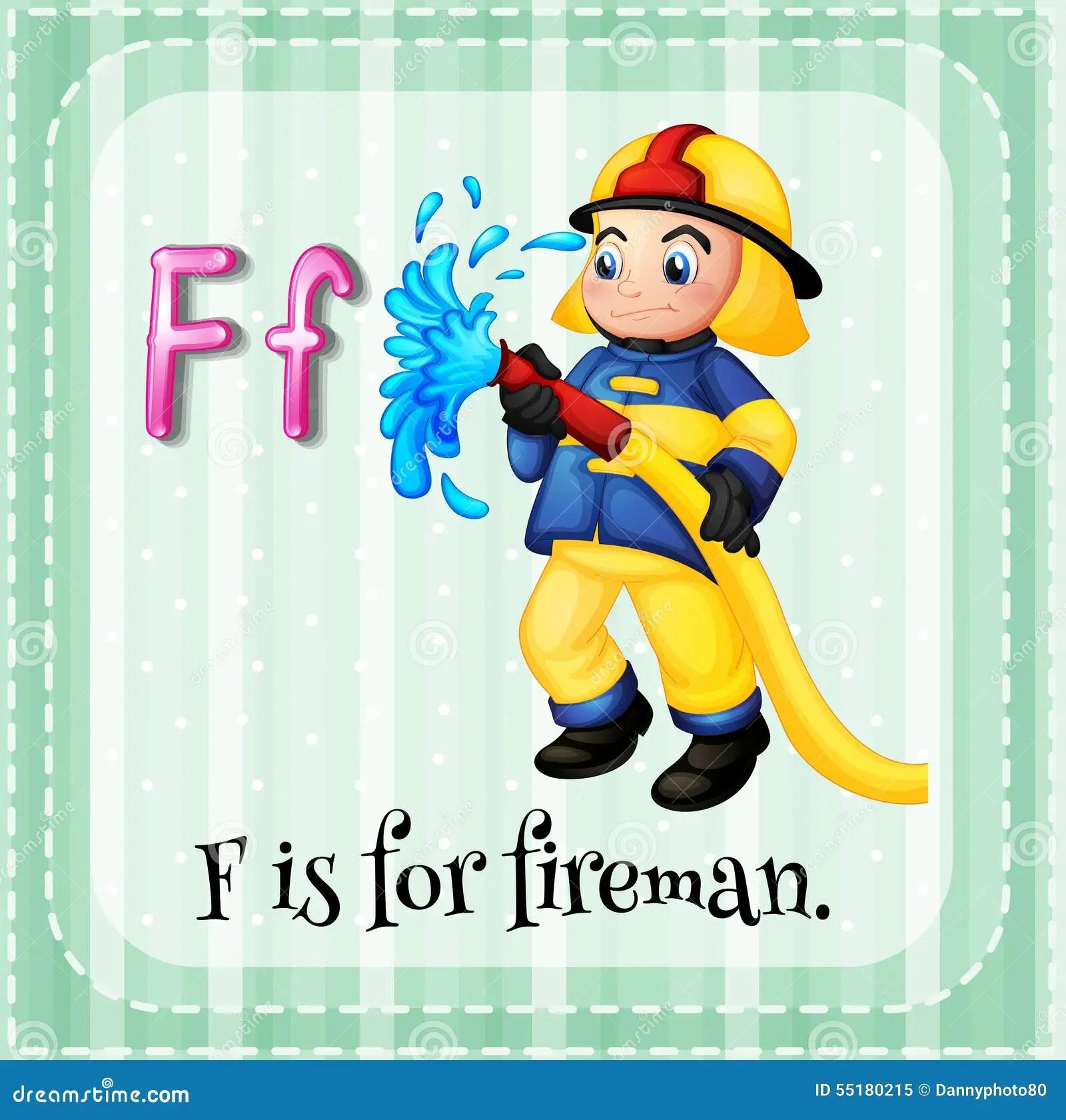 Fireman Stock Illustration