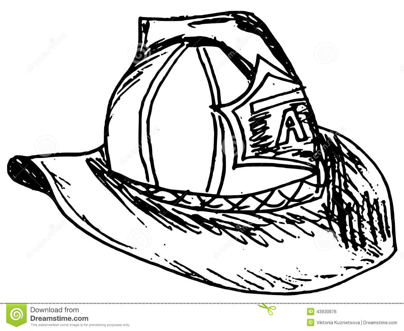 Fireman Helmet Stock Vector Illustration Of Illustration