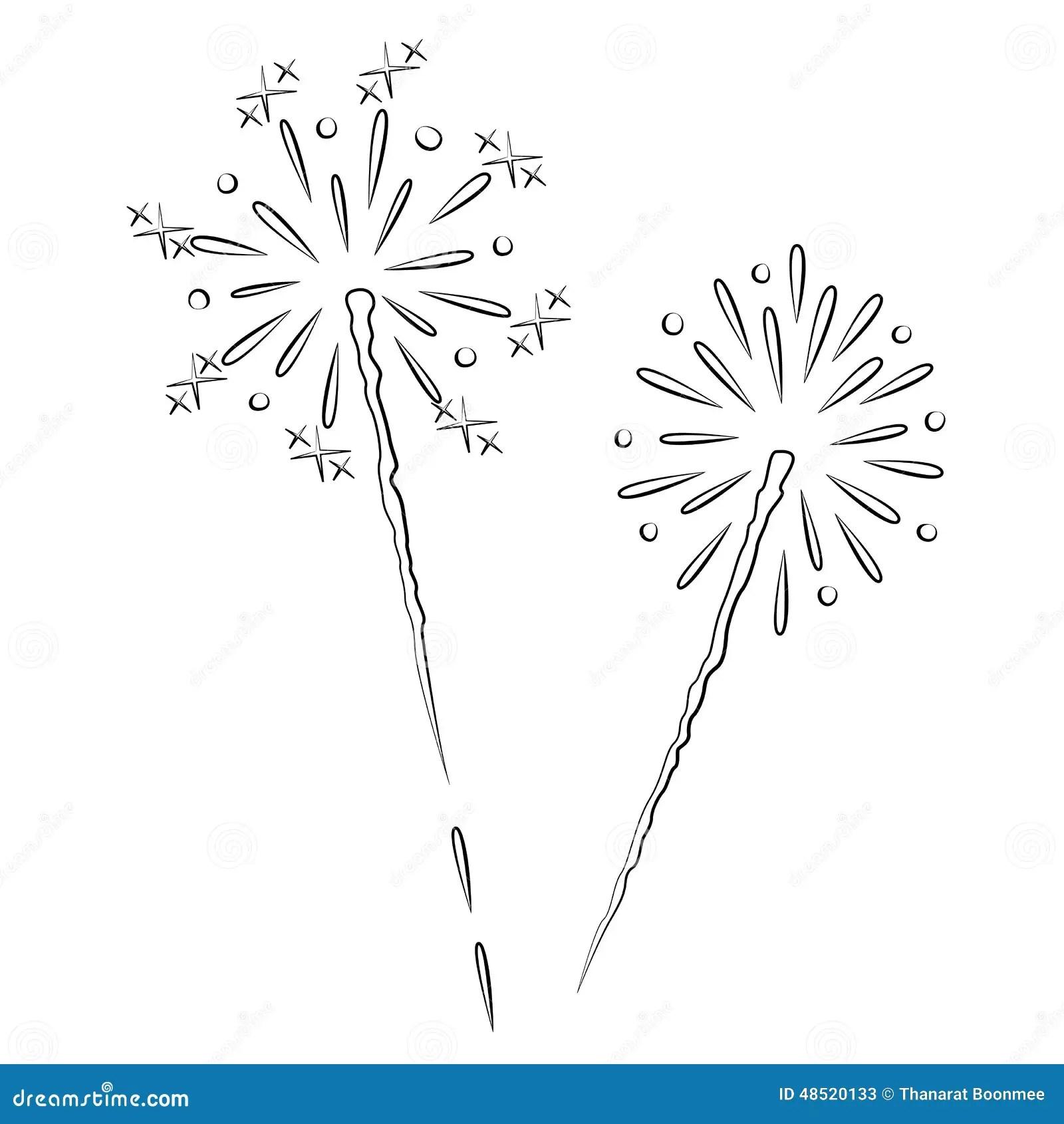 Fireworks Stock Vector Illustration Of Vector Shape
