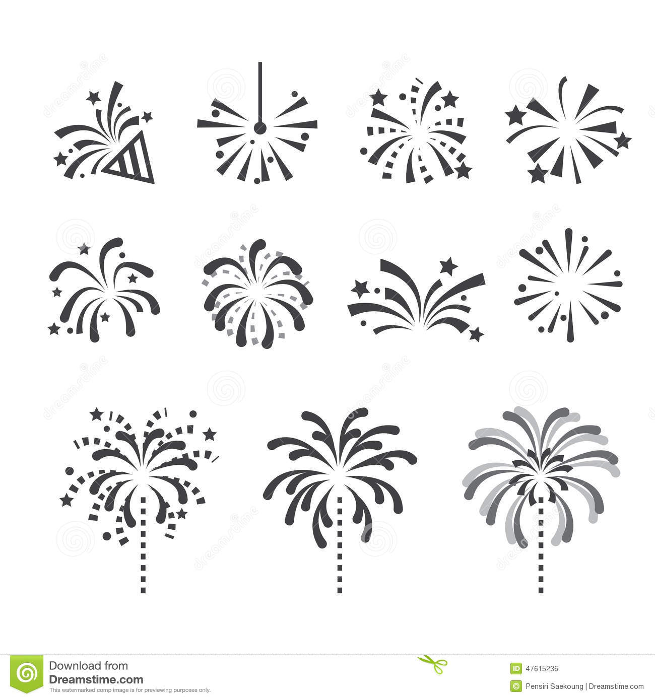 Fireworks Icon Stock Vector Illustration Of Decorative