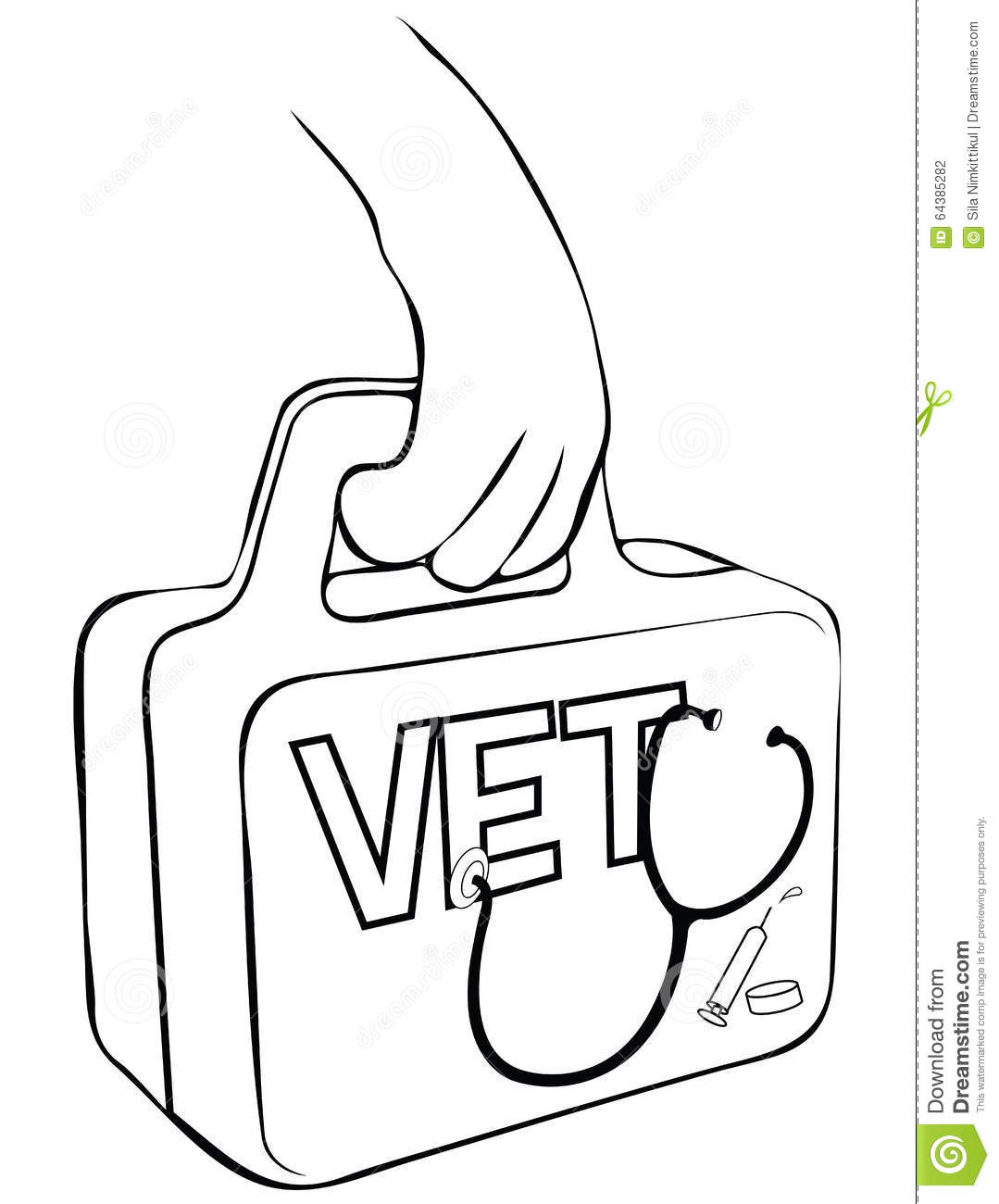 First Aid Vet Mobile Service Design Stock Vector
