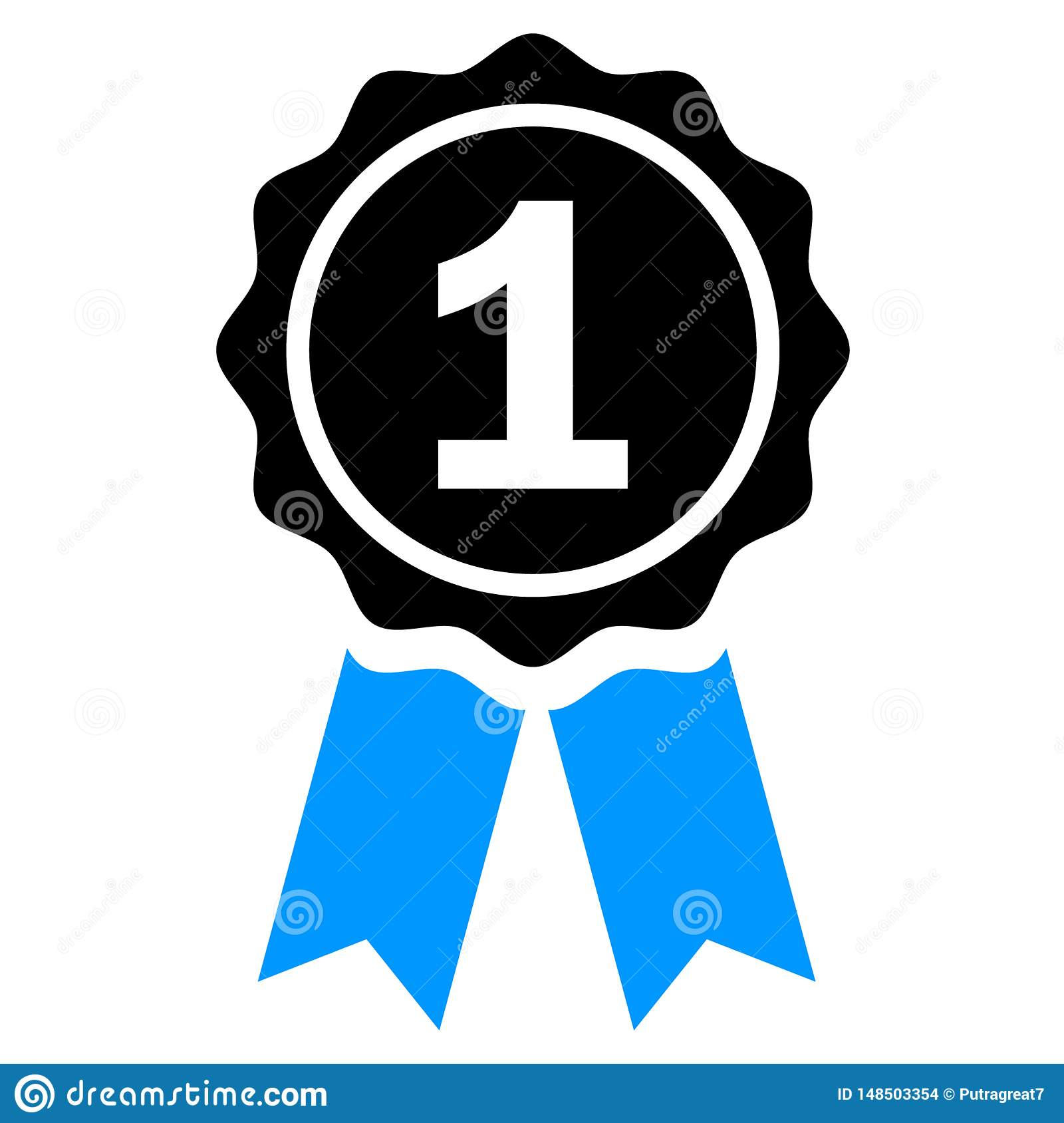 First Place Award Prize Ribbon Winner Win Stock Vector
