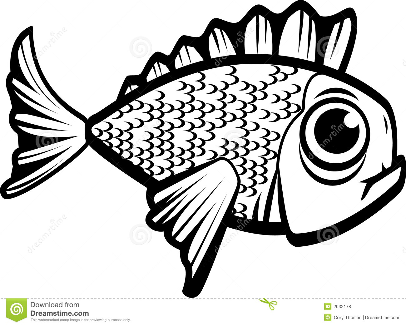 Fish Black And White Stock Vector Illustration Of Vector