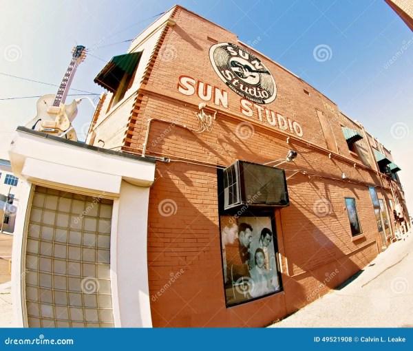 Fish Eye View Of Sun Studio, Memphis Tennessee Editorial ...