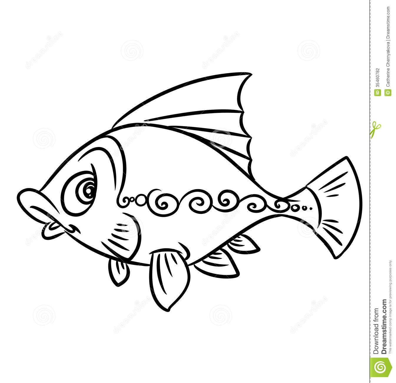 Fish Pattern Coloring Pages Stock Photography