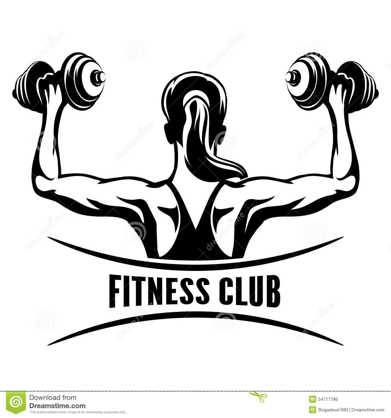 Fitness Club Emblem Stock Vector Illustration Of Active