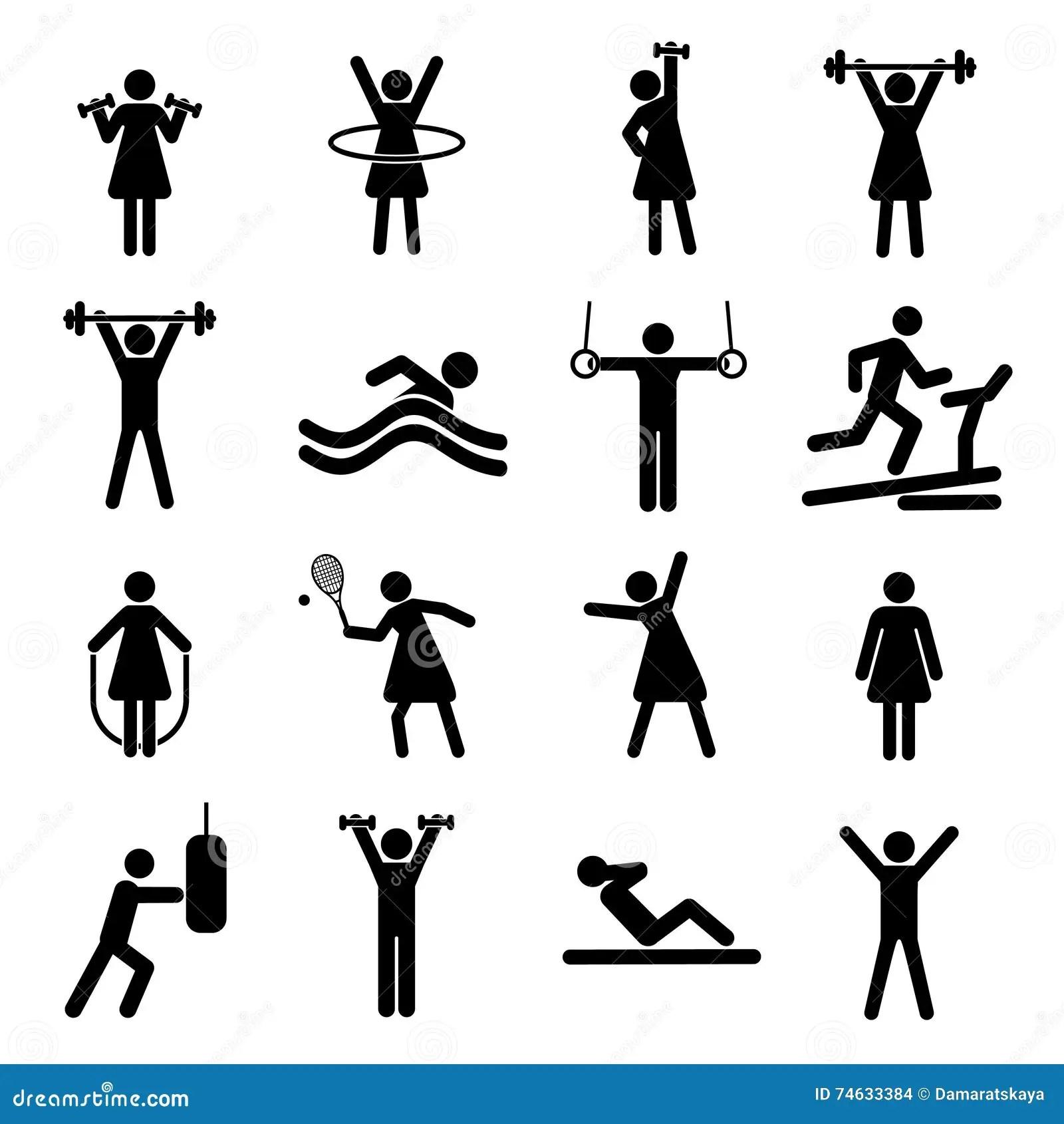 Sport Gym Flat Illustration Pattern Design Cartoon Vector