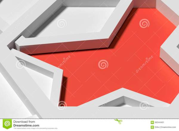 Five Three-dimensional Pentagons Casting Shadow Stock ...