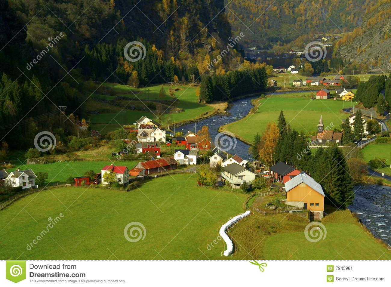 Flam Valley Norway Stock Image Image 7945981