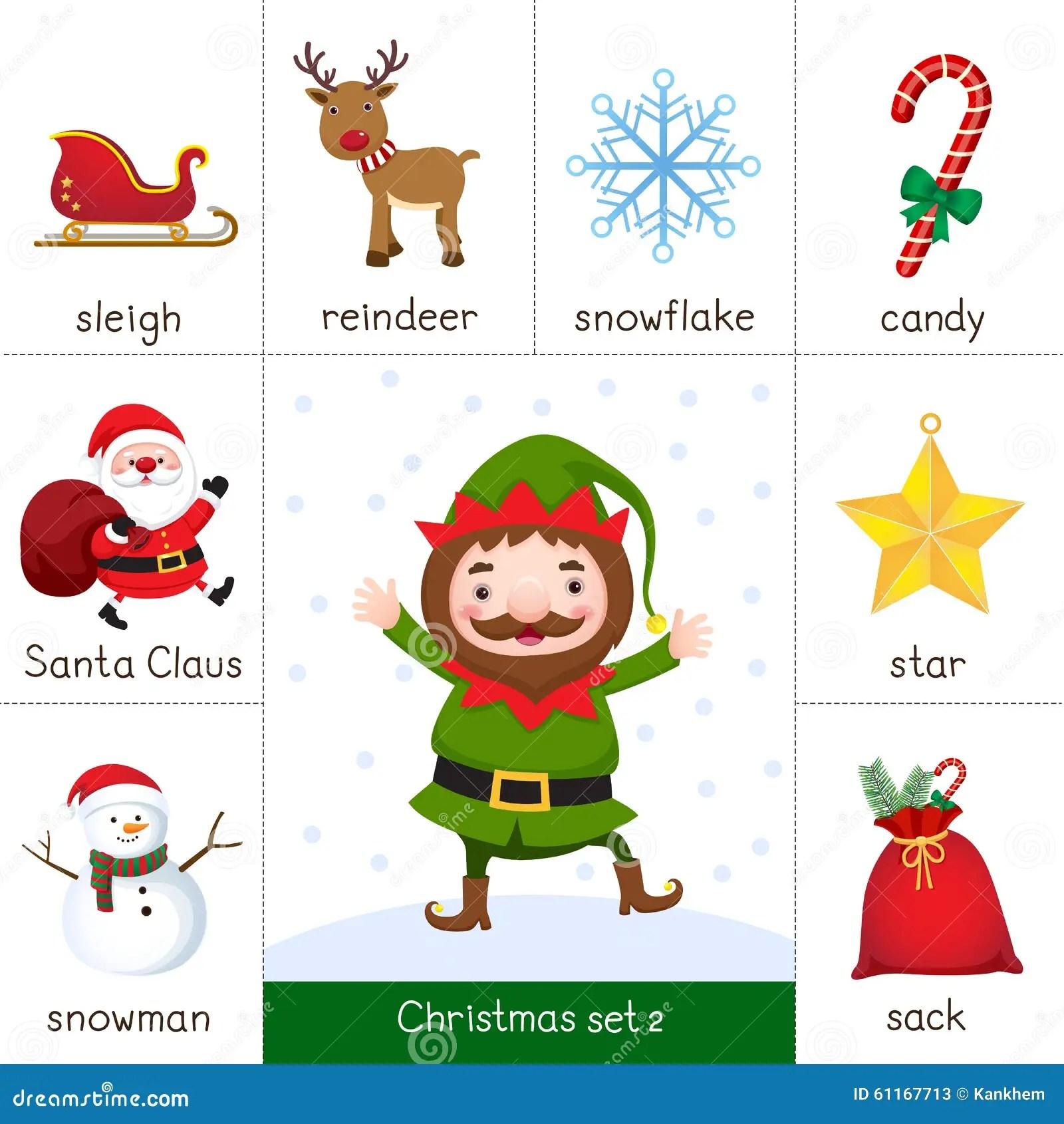 Flash Card Stampabile Per Il Natale Fissato Ed Il Natale