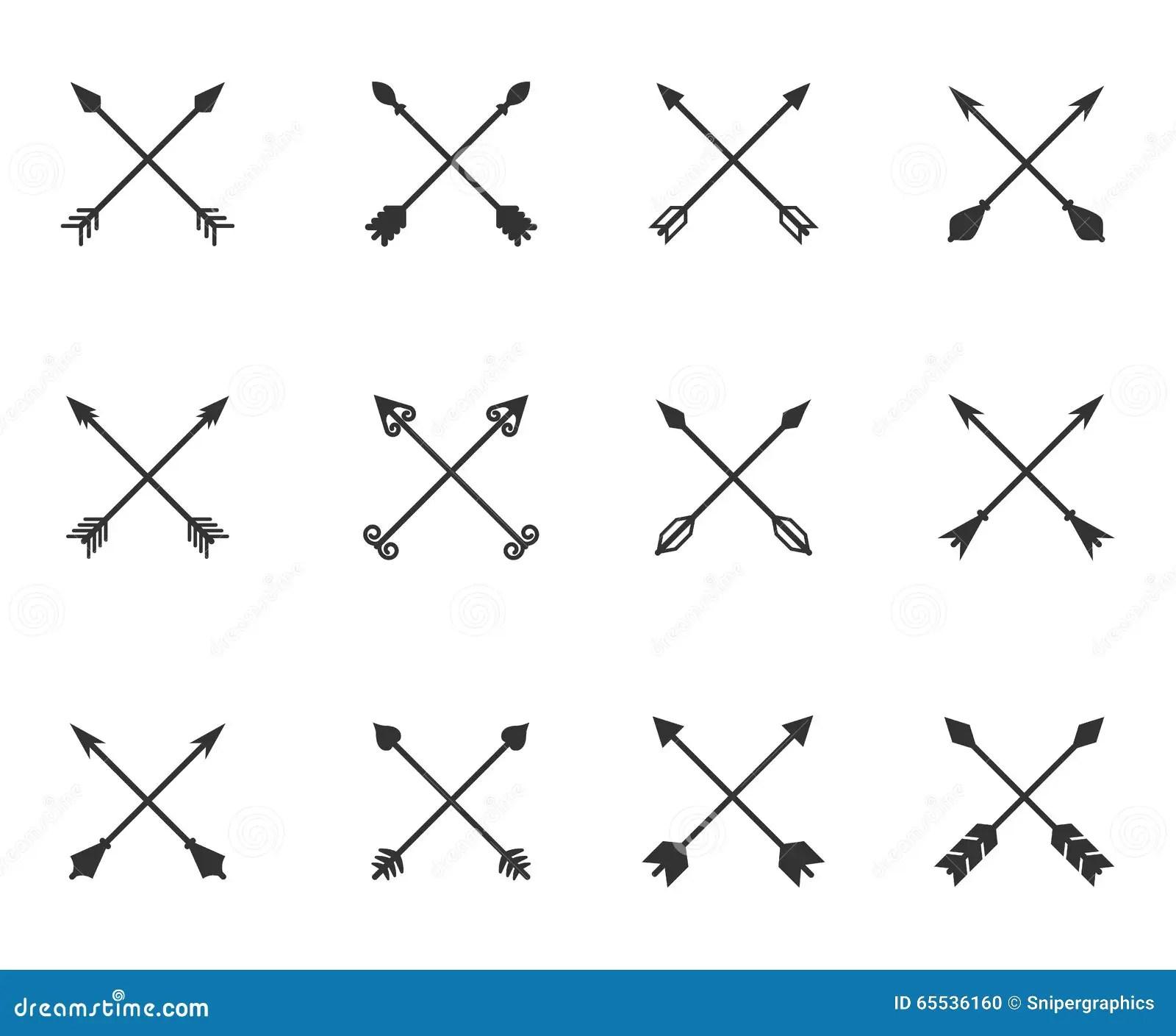 Fleches Croisees Reglees Illustration De Vecteur