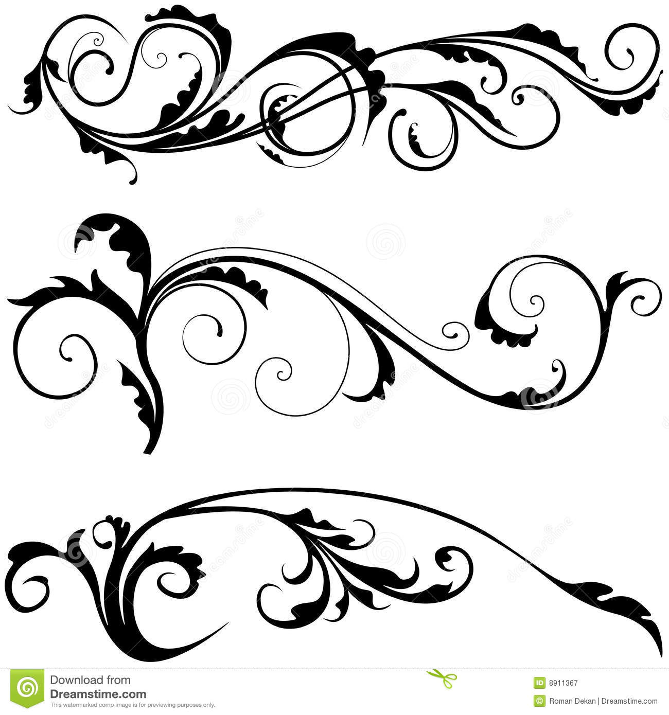 Floral Decoration Stock Vector Illustration Of Abstract