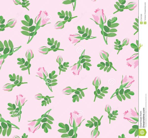 Floral Seamless Background Flower Rose Pattern Stock