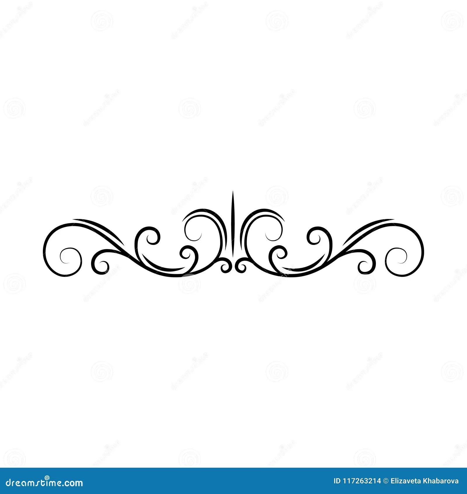 Flourish Page Divider Decorative Scroll Page Border