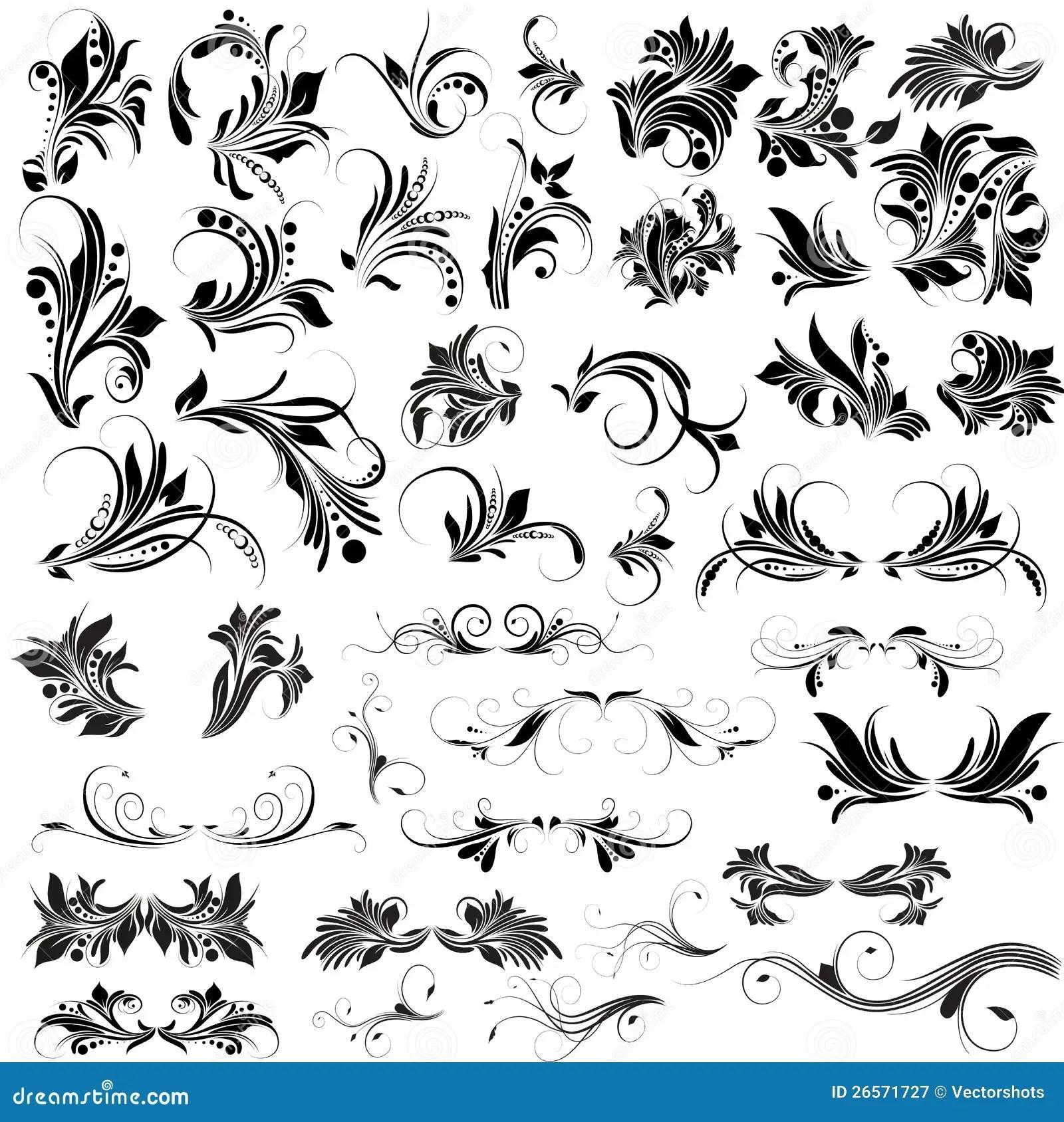 Flourish Vectors Elements Stock Illustration Illustration