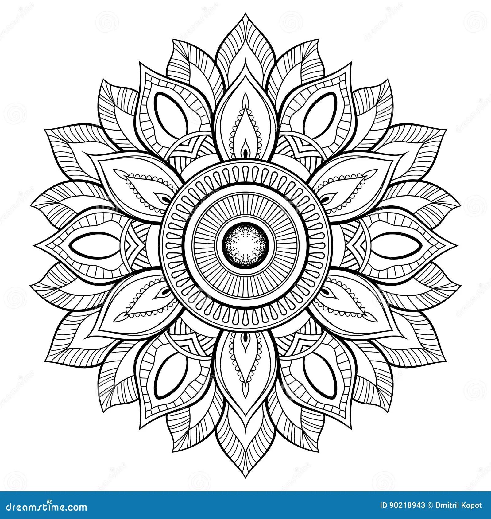 Flower Mandala Motifs Vintage Decorative Elements