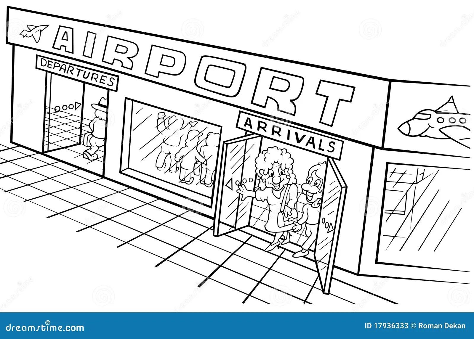 Flughafen Vektor Abbildung Illustration Von Getrennt