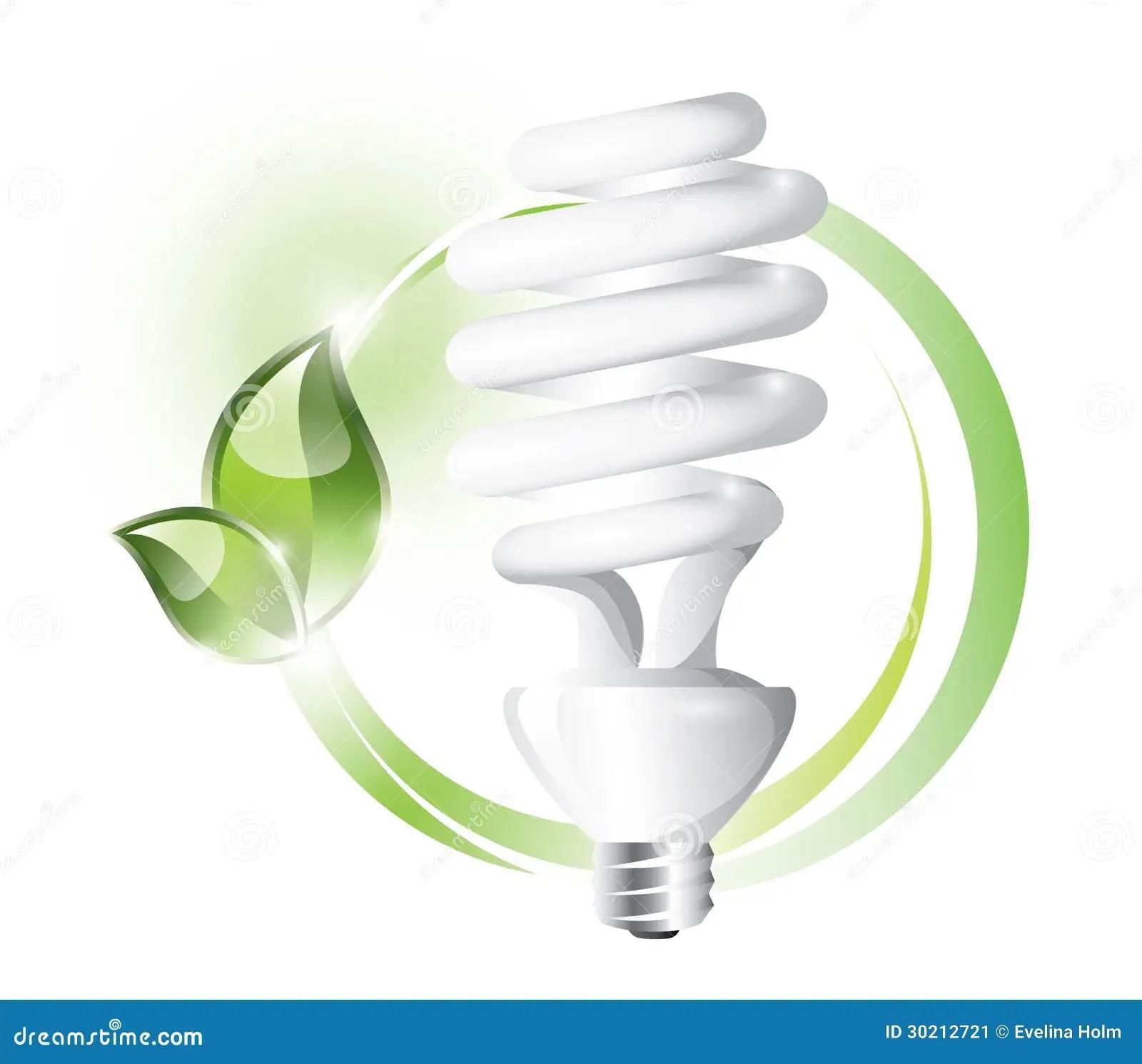 Fluorescent Lightbulb Stock Image
