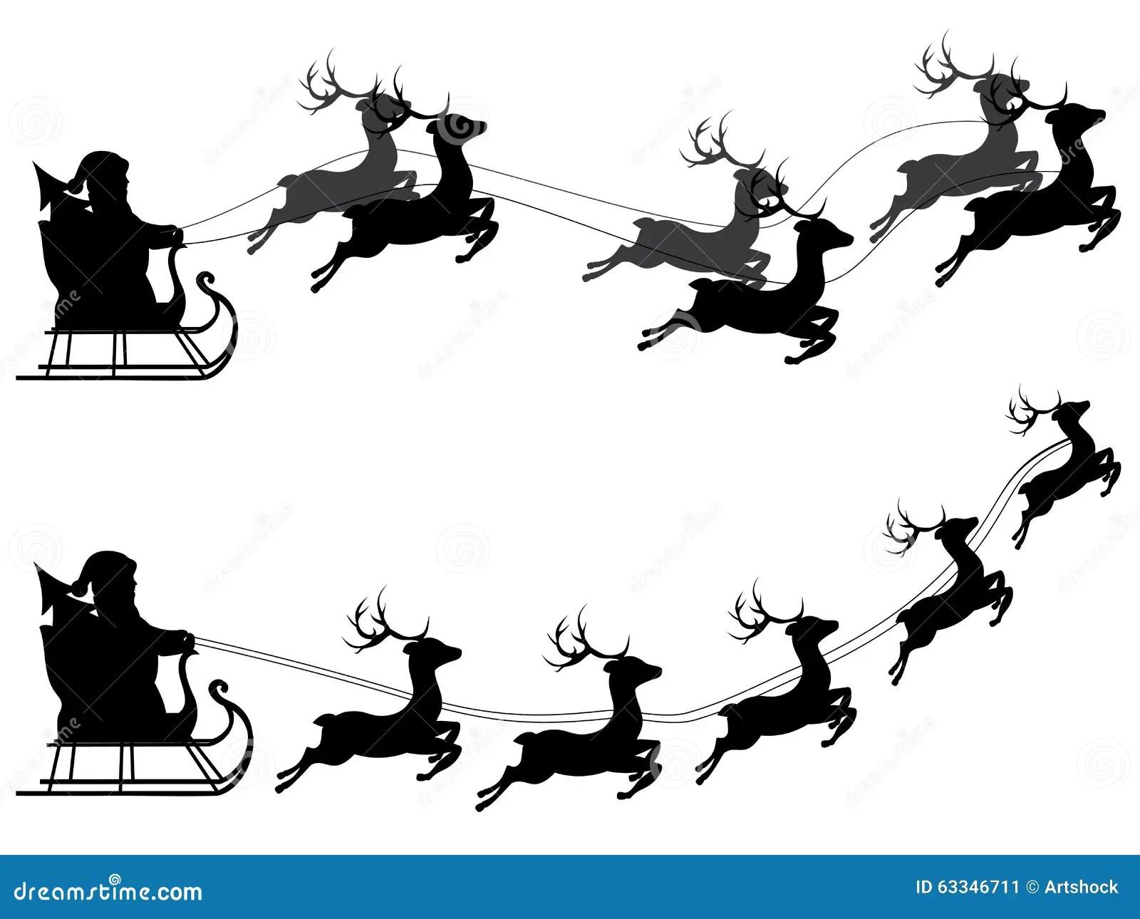 Flyg Santa Claus Vektor Illustrationer Illustration Av
