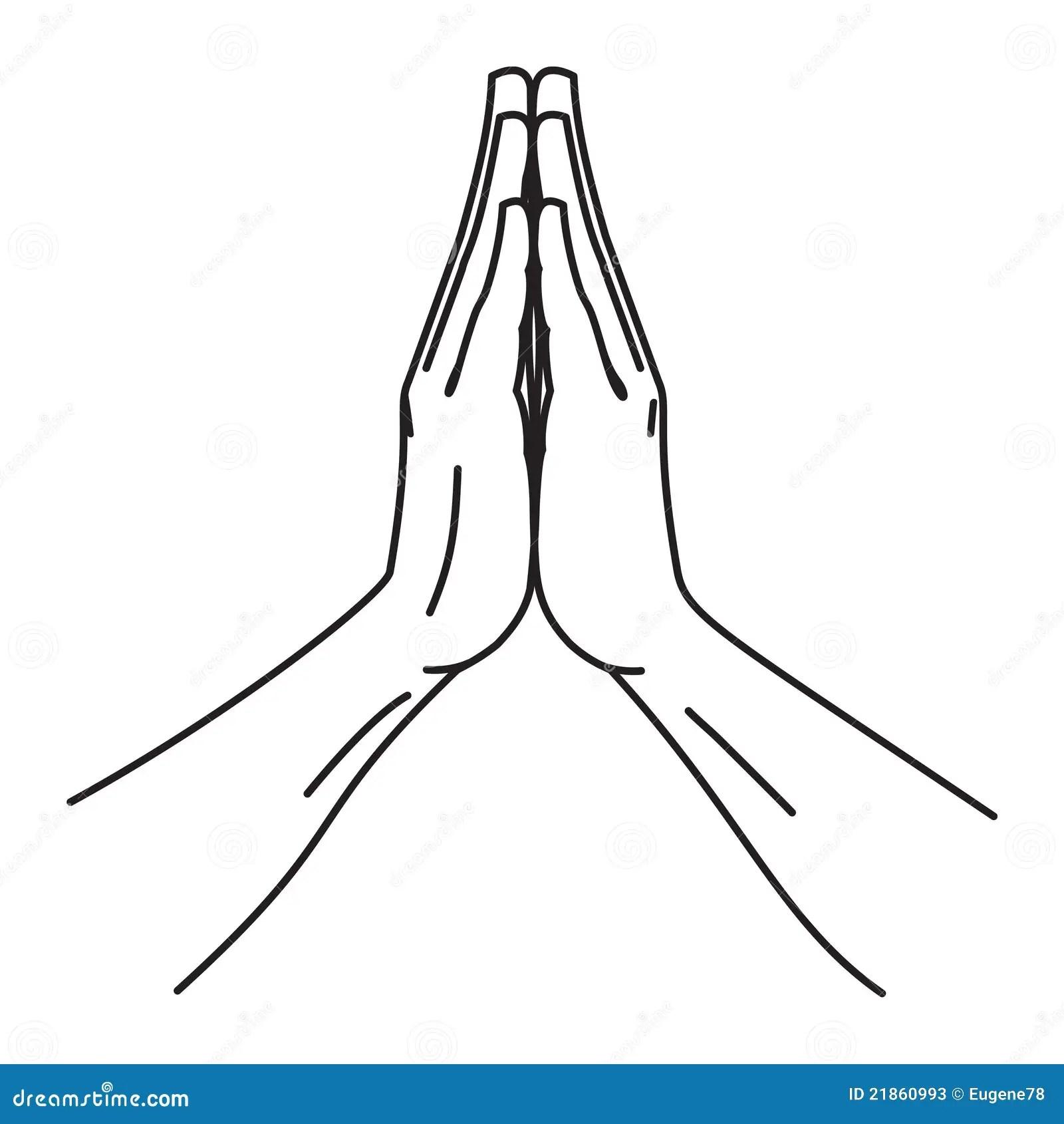 Folded Hands Stock Vector Illustration Of Fanatic Body