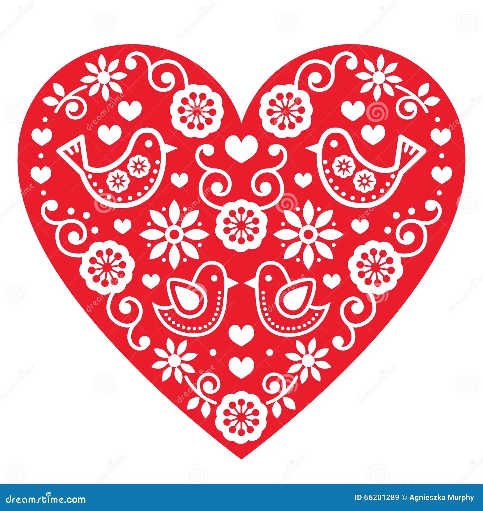Folk Art Heart Stock Photography 555242