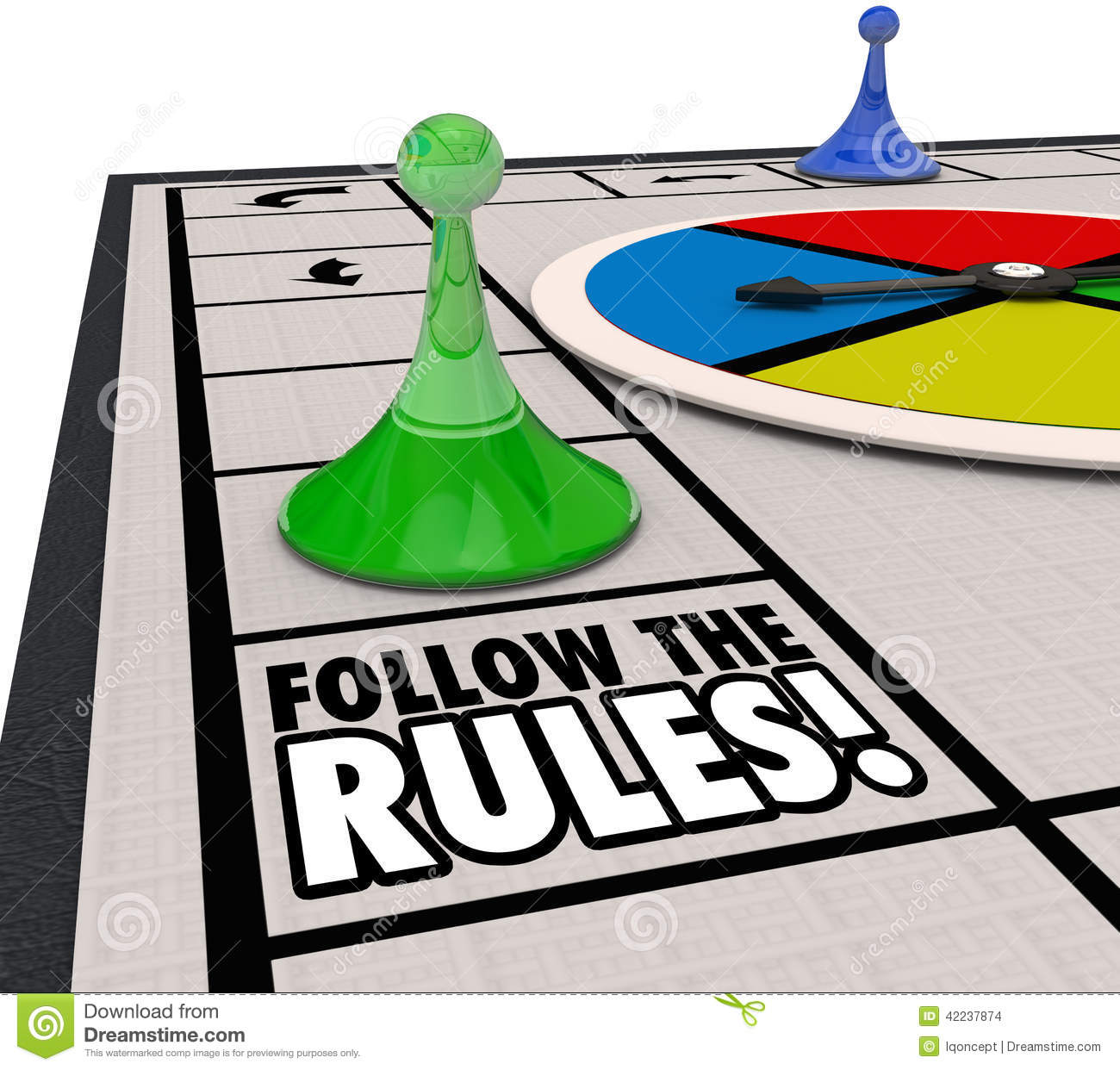 Follow The Rules Board Game Piece Win Challenge Compliance