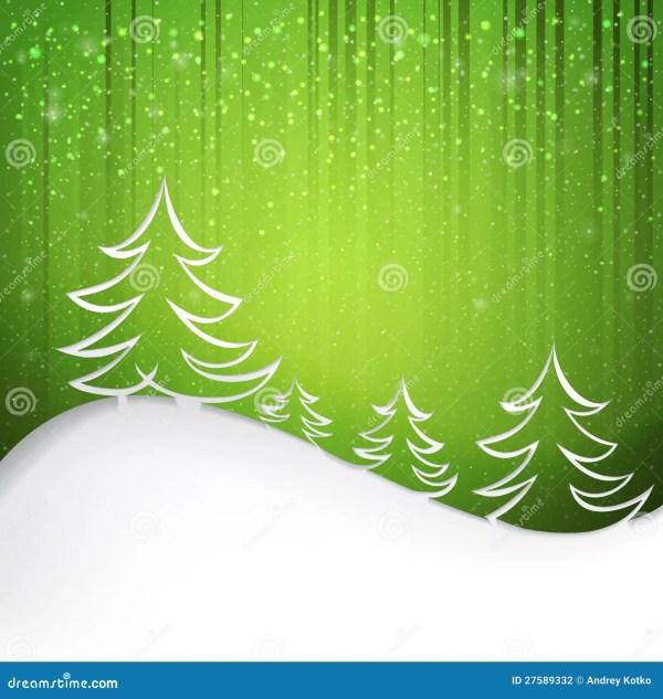 Fond Vert Avec Des Flocons De Neige Photographie stock ...