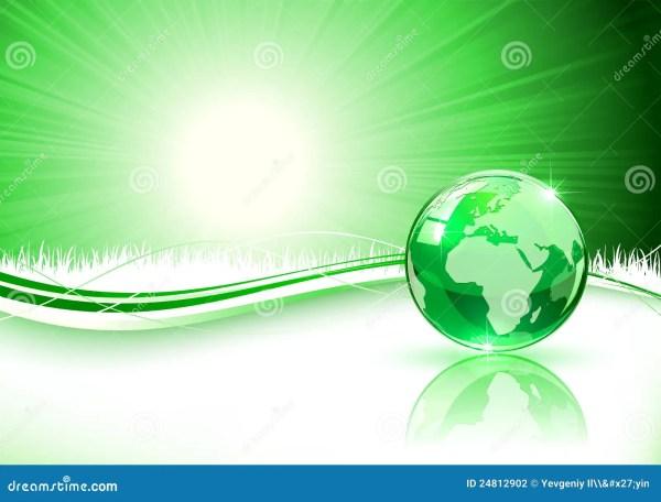 Fond Vert Avec La Terre Photographie stock - Image: 24812902