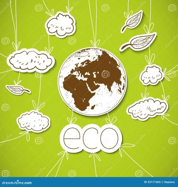 Fond Vert D'eco Avec La Terre Photo libre de droits ...