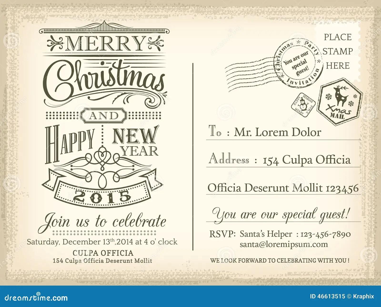 Fondo De La Navidad Del Vintage Y De La Postal Del Dia De