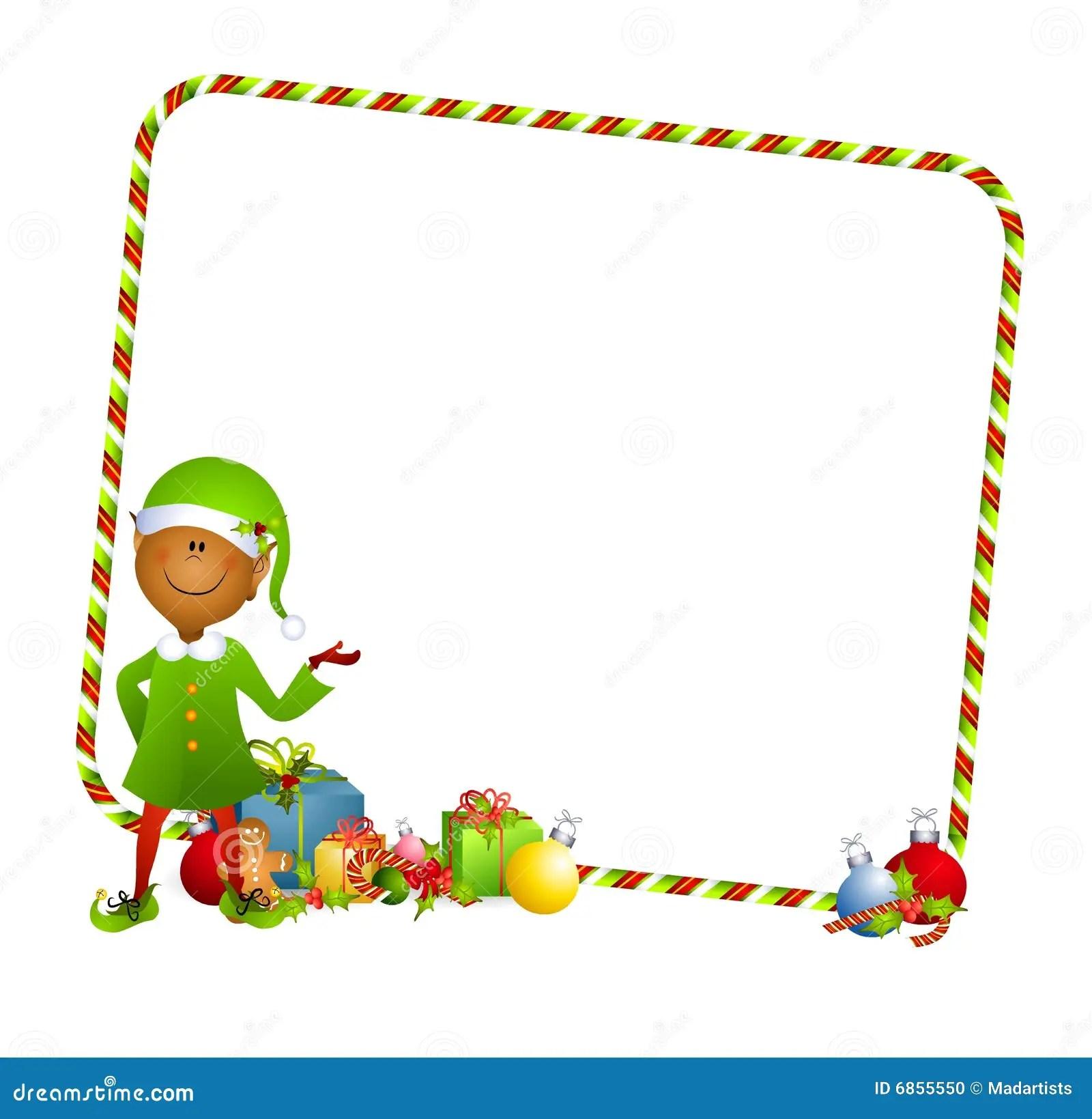 Fondo Del Duende De La Navidad Stock De Ilustracion