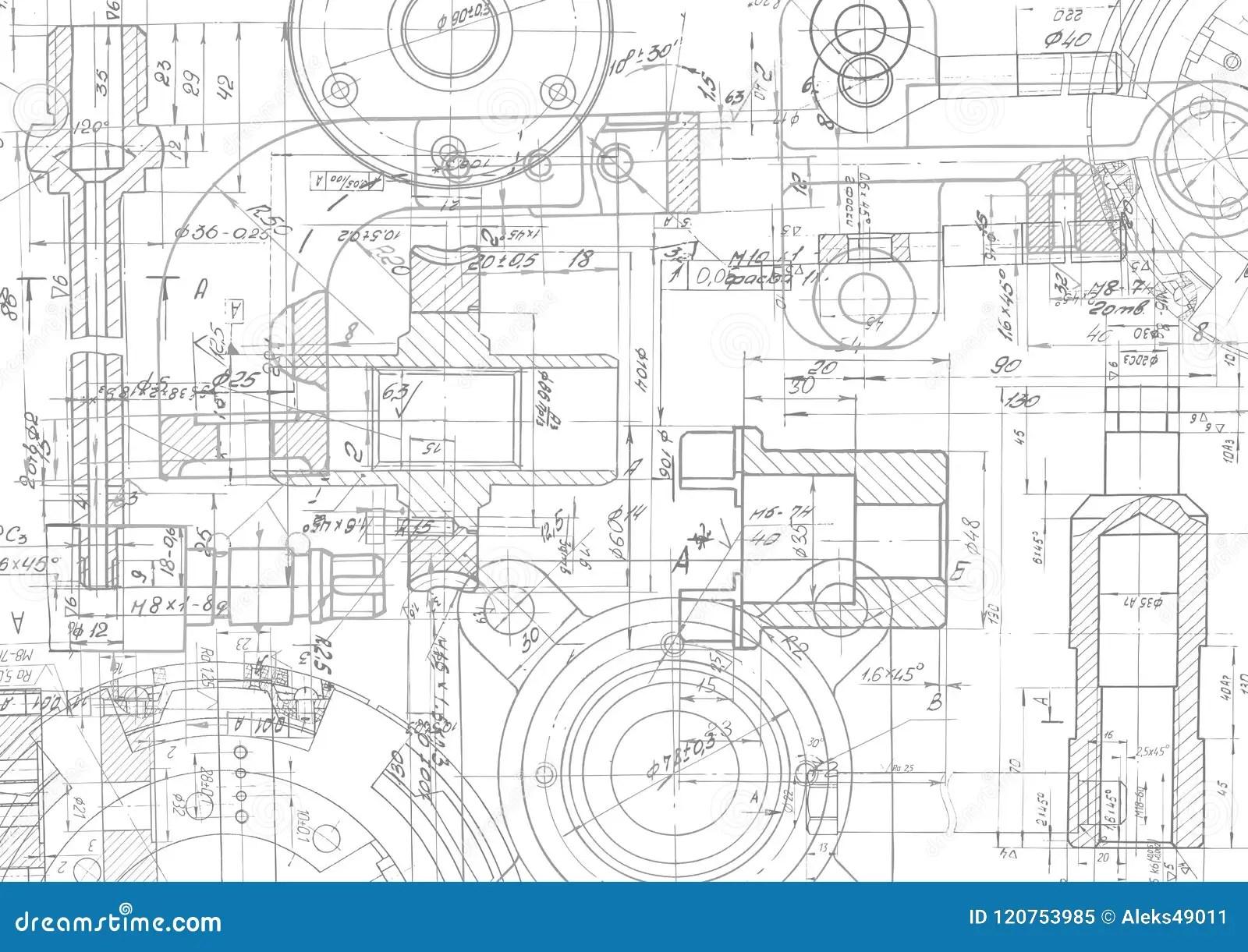 Fondo Tecnico Del Disegno Disegno Di Ingegnere Meccanico