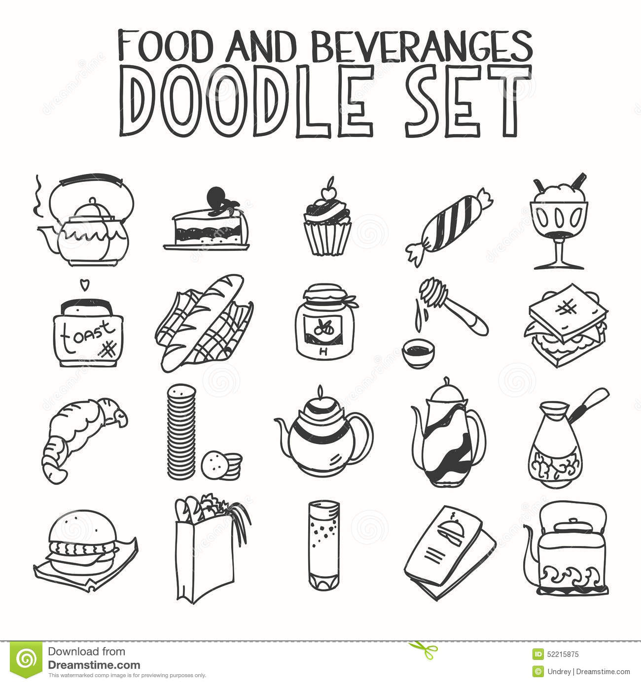 Food And Beveranges Morning Breakfast Lunch Or Stock