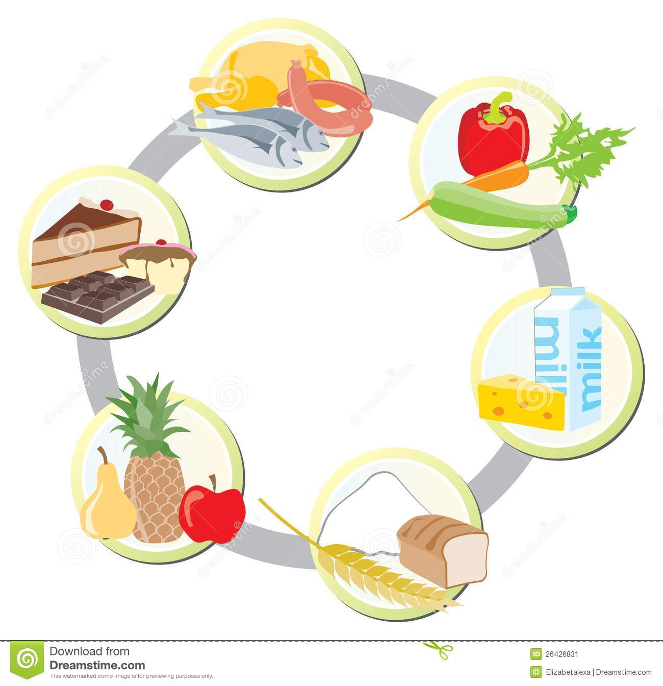 The Food In Groups Stock Vector Illustration Of Fruit