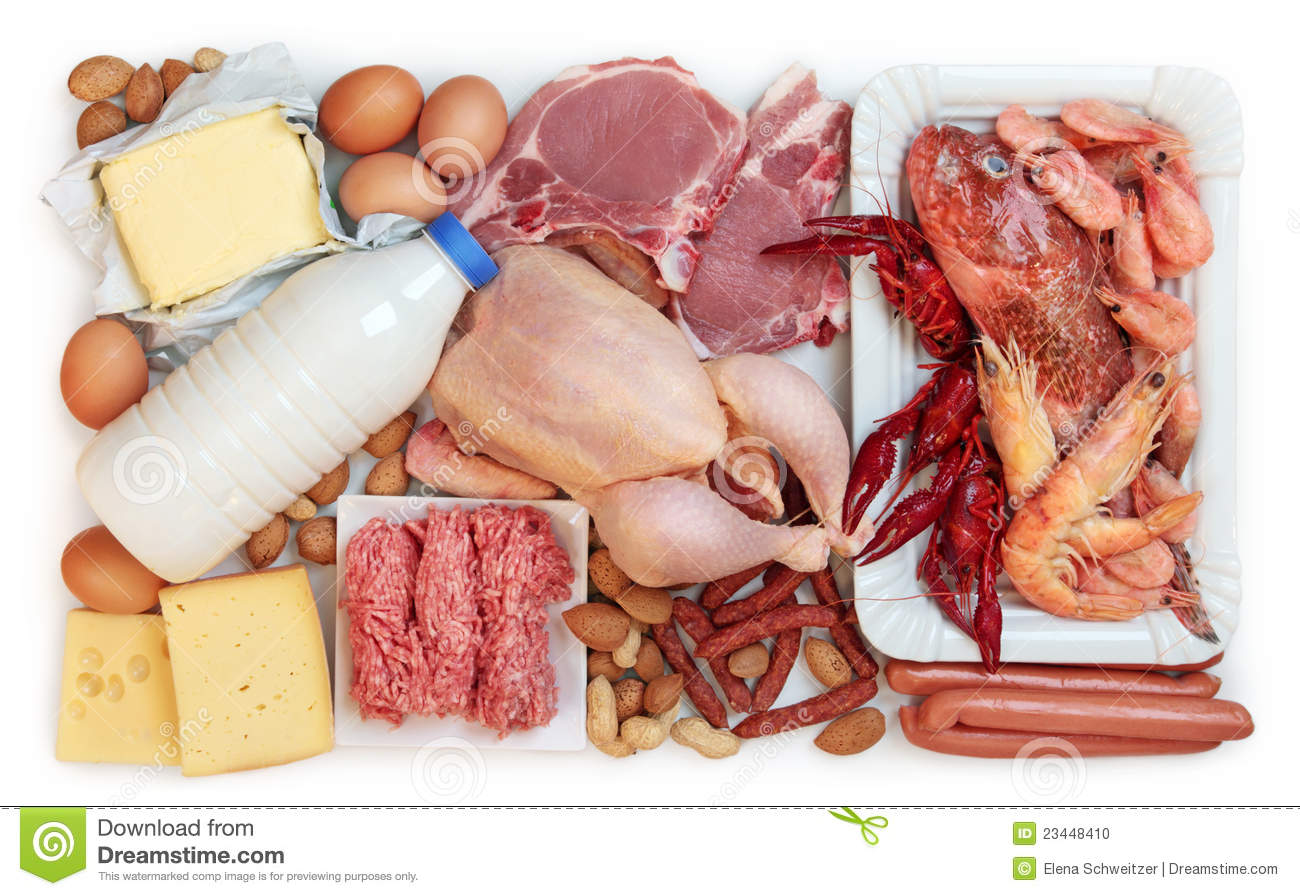 Food High In Animal Protein Stock Photo
