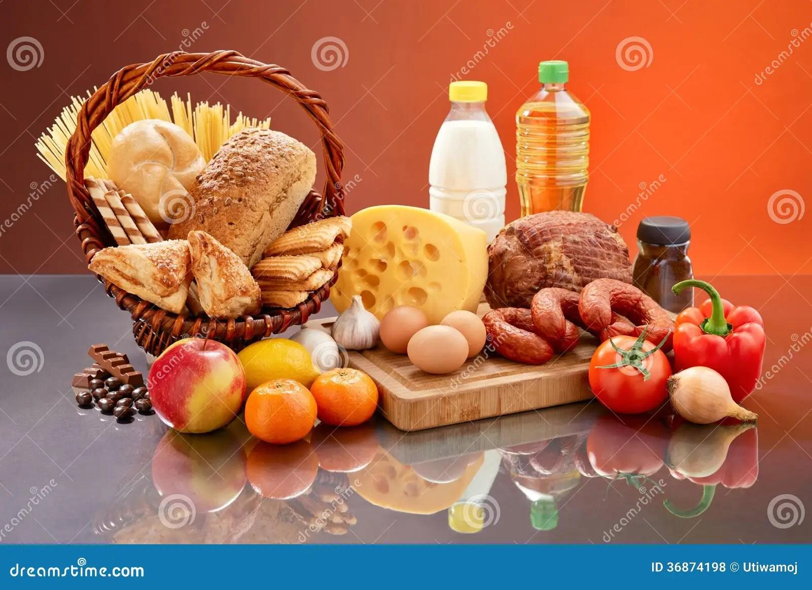 Daily Food Set Royalty Free Stock Photos Image 36874198