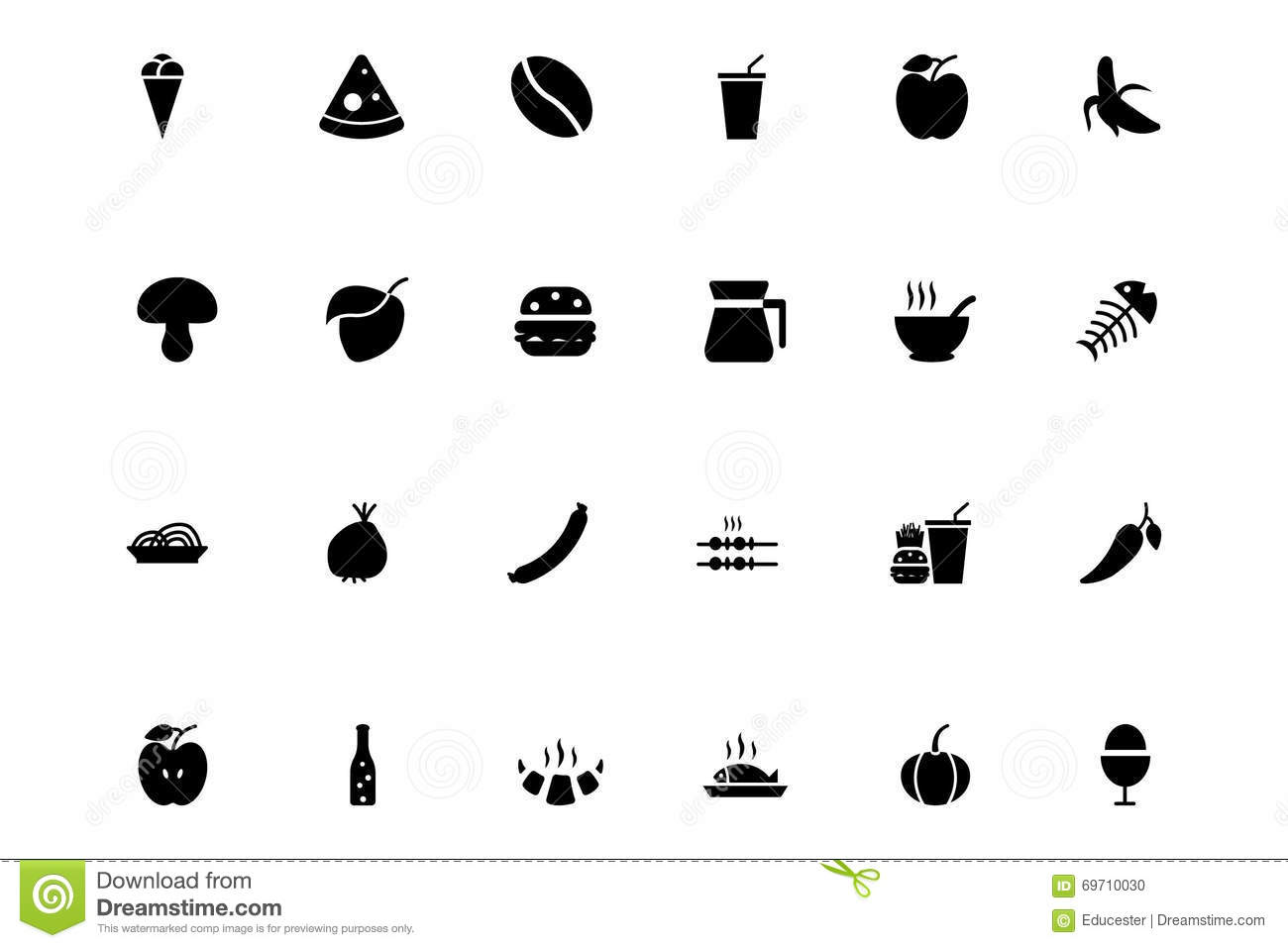 Food Vector Icons 2 Stock Photo Image Of Croissant Ewer