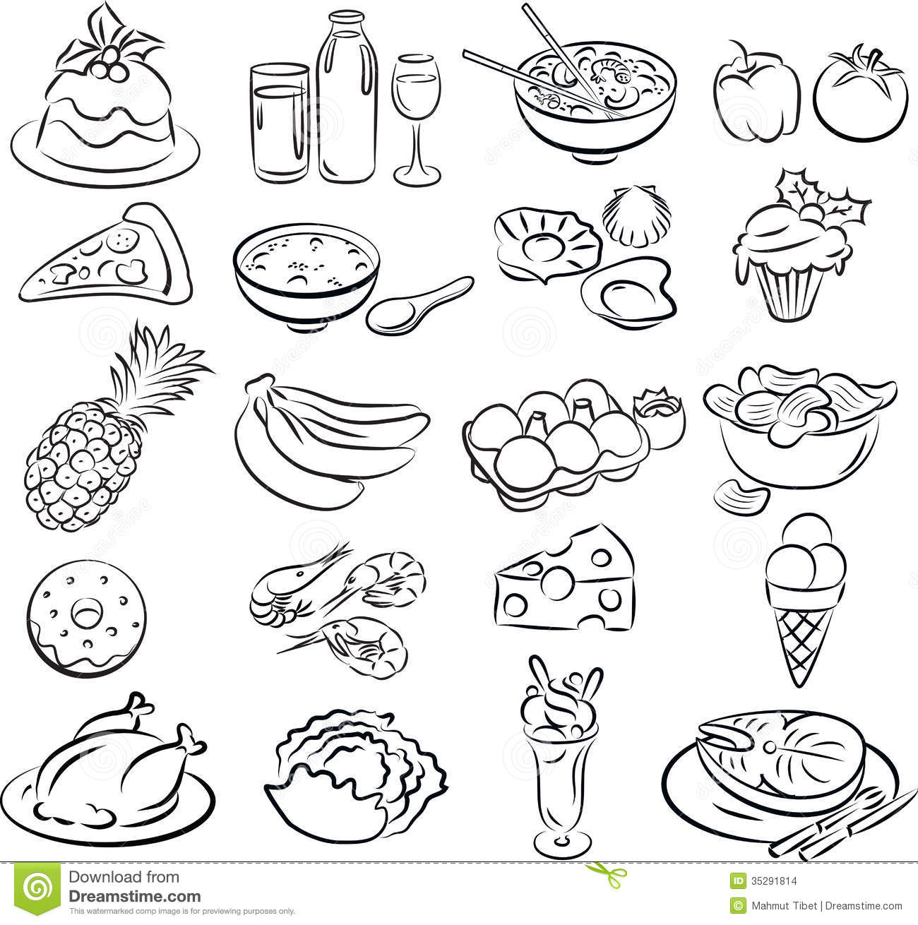 Foods Stock Vector Illustration Of Bread Healthy