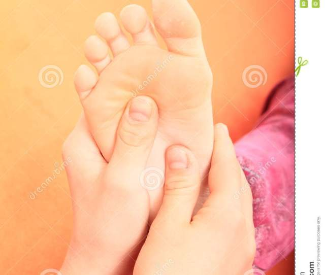 Foot Massage Of A Sole Of Girl From A Boy