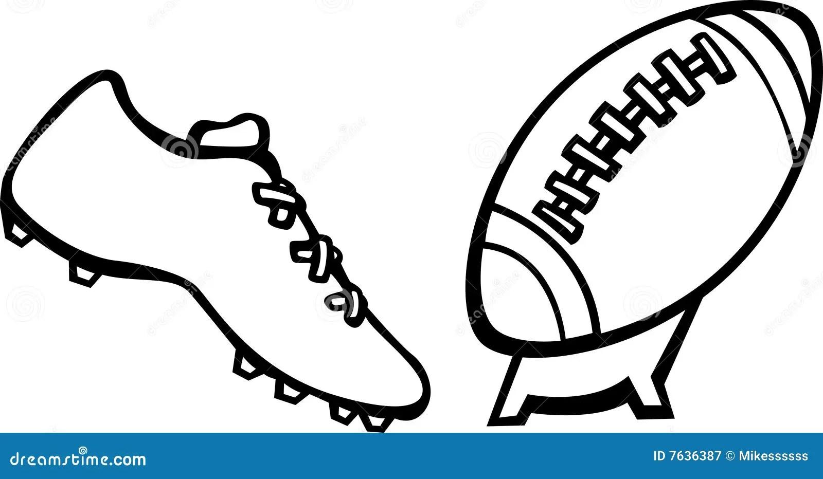 Football Kick Vector Illustration Royalty Free Stock