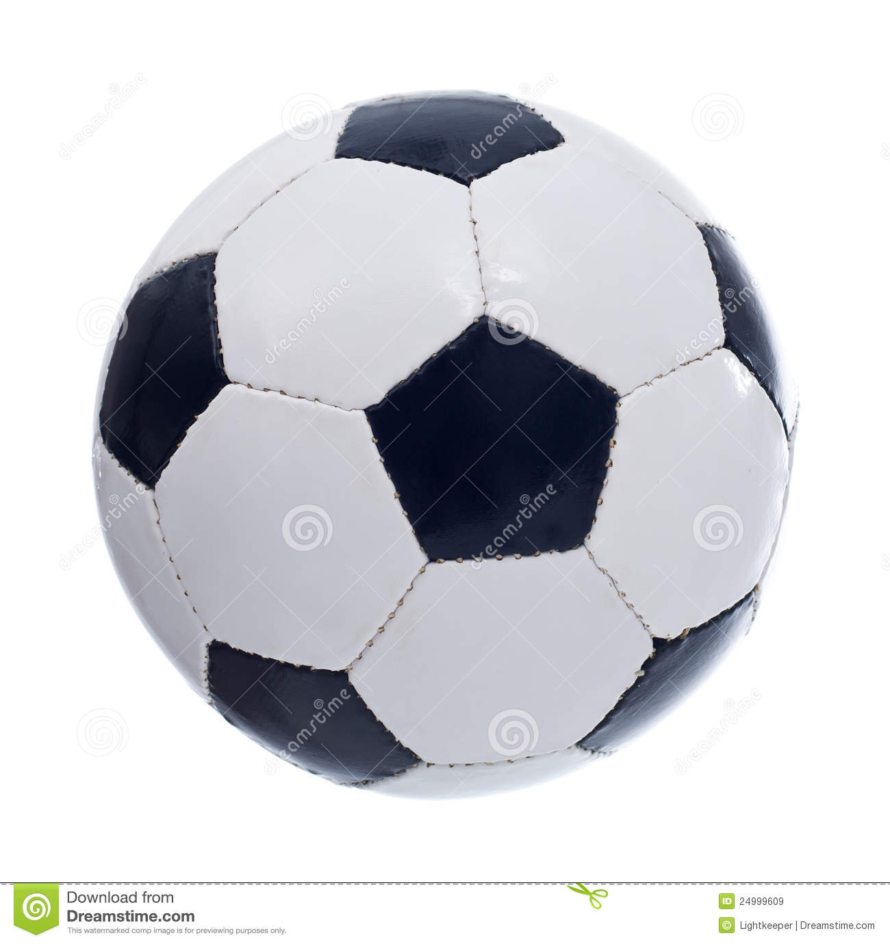 Football Or Soccer Ball Stock Image Image Of Sphere