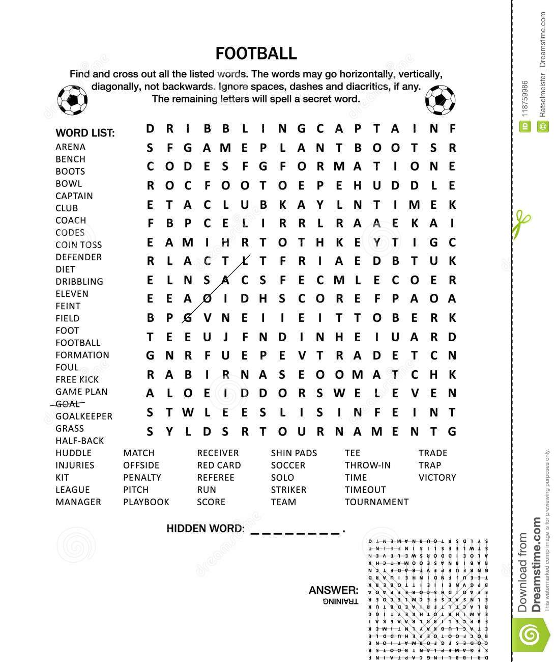 Soccer Worksheet