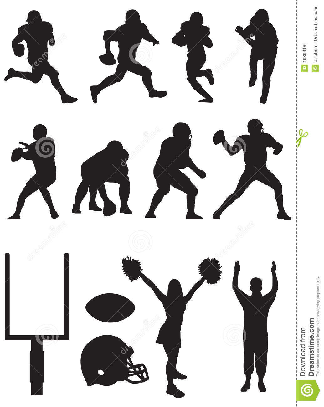 Football Team Silhouettes Stock Photo